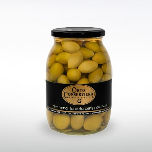 Olive verdi La Bella di Cerignola in Vaso Make Italy