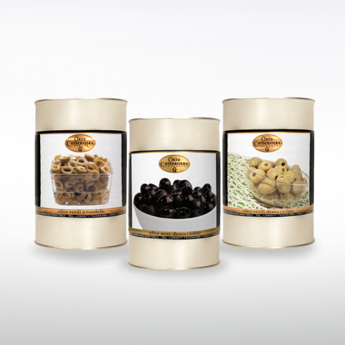 Olive Denocciolate e rondelle Make Italy