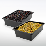 Baked Black Olives and Seasoned Green Olives Make Italy